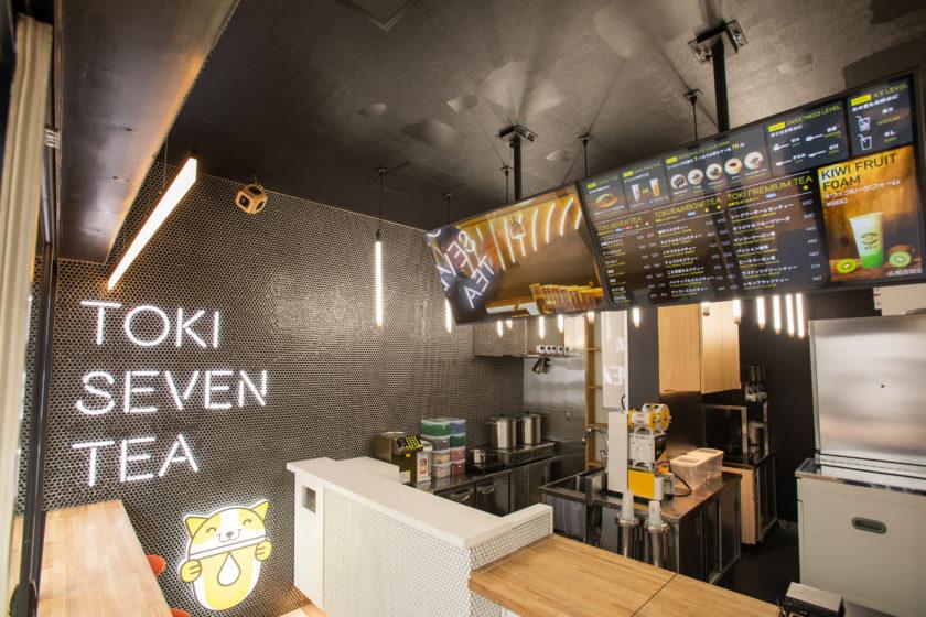TOKI SEVEN TEA 店内カウンター
